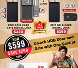 CHEAPEST EPIC Gold Card Door and Gate Digital Lock at $599 HP 81860696