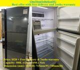 (Quite New) Hitachi (450L) 2doors Big Refrigerator / Fridge ($520 + Free Delivery & 2mths warranty)