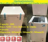 Bizzz (100L) Chest Freezer ($250 + Free Delivery & 12mths warranty) (refrigerator / fridge)