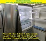 Samsung (402), 2 Door Big doors fridge / refrigerator ($380 + Free Delivery & 2mths warranty)