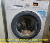 Ariston 9.0kg washer / washing machine  ($350 + Free Delivery & 2mths warranty) Model :WMG9237 +) 34