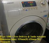 Samsung 10.0kg washer / washing machine ($380 + Free Delivery & 2mths warranty)