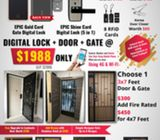EPIC Digital Locks + Gate + Door for $1988 with free installation. HP: 85957577