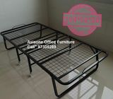 Folding Metal Bed Frame with Wheels - Asiaone Office Bunk Bed