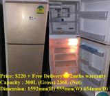 Mitsubishi (236L), 2doors refrigerator / fridge ($220 + Free Delivery & 2mths warranty)