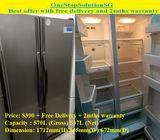 Samsung (537L) side by side door refrigerator / fridge ($390 + Free Delivery + 2mths warranty)