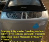 Samsung 9.0kg washer / washing machine ($240 + Free Delivery and 2mths warranty)