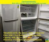 Mitsubishi (342L) Big 3doors  fridge / refrigerator ($280 + Free Delivery & 2mths warranty)