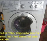 Indesit (7.5kg / 4.5kg) washer dryer 2 in 1 ($420 + Free Delivery and 2mths warranty)