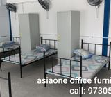 Single Bunk Bed with H head frame for dormitory worker room / Singapore furniture company
