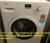 Bosch (7kg)  washer / washing machine ($290 + Free Delivery & 2mths warranty) Model :WAK20060SG Colo
