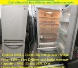 Toshiba (365L), 3doors Big refrigerator / fridge ($290 + Free Delivery and 2mths warranty)