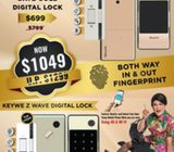 Latest Design Keywe Gold Damian Gate + Door Digital Lock for hbd condo  at $1049 HP: 92220659 Paul