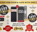 EPIC Card Digital Lock bundle with installation. HP: 85957577
