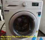 (8kg washer /5kg dryer ) Washing machine Dryer 2-in-1 ($480+ Free Delivery and 2mths warranty)