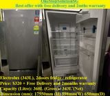 Electrolux (343L), 2doors fridge / refrigerator ($320 + Free Delivery & 2months warranty)