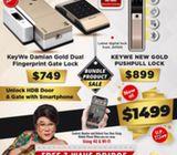 Keywe Digital Lock bundle for $1499 with free installation. HP: 85957577