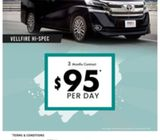 2018 Toyota Vellfire for Limo/Grab Usage (Corp Jobs Avail)