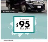 22019 Largest Toyota Vellfire Hi-Spec Fleet for Limo/PHV usage