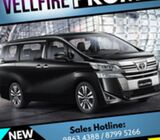 Upcoming New Year Vellfire Hot Promo (PHV, Corp Jobs, Limo Counter avail) Hurry!