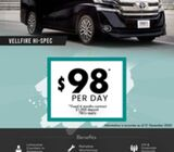 Hot Deal - Hi Spec Toyota VellFire for Grab/Limo (Corp Jobs & Limo Counters Avail)