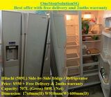 Hitachi (589L) Side-by-Side doors fridge / Refrigerator ($550 + Free Delivery & 2mths warranty)