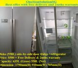 Beko (558L) side-by-side door fridge / refrigerator ($500 + Free Delivery & 2mths warranty)