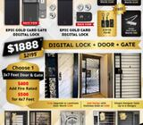 new gate with maindoor and digital lock at $1888 only