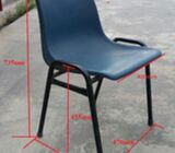 Stackable Plastic Chair with Steel Leg For Sales / Limited 90pcs ONLY