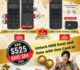 Popular and affordable HDB & Condo digital lock @ $525 ,Call 88668884