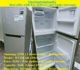 Samsung (255L) 2 doors Fridge / Refrigerator ($250 + Free Delivery & 2mths warranty)