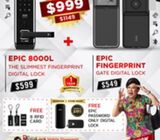 Clearance Sales for Fingerprint digital lock @ $999,Call 88668884