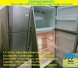 LG (321L) 2door Big refrigerator / fridge  ($250 + Free Delivery & 2mths warranty)
