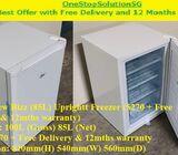Brand New Bizz (85L) Upright Freezer ($270 + Free Delivery & 12mths warranty) (refrigerator / fridge
