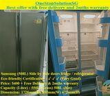 Samsung (508L) Side by Side doors fridge / refrigerator ($400 + Free Delivery & 2mths warranty)
