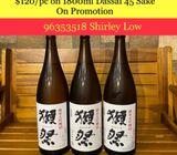 $120/pc for 1800ml Dassai 45 Sake on Promotion by Drink2Connect/Dassai Sake/Japanese Sake on Sale