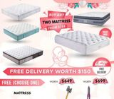 Mother's Day Promotion! Most Comfortable Mattress Buy 2 Get 1 Free> $799 Call 88140503 (Tampines 1)