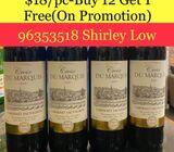 $18/pc for 750ml Croix Du Marquis Cabernet Sauvignon Wine/Wedding Wine at https://t.me/winepromo