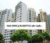 CENTRAL GROVE(Aljunied MRT) 4 rent (3+1) S$3.6K*Ong-91687711*